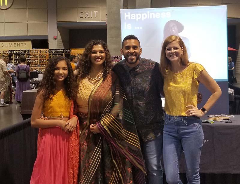 People wearing Indian wear