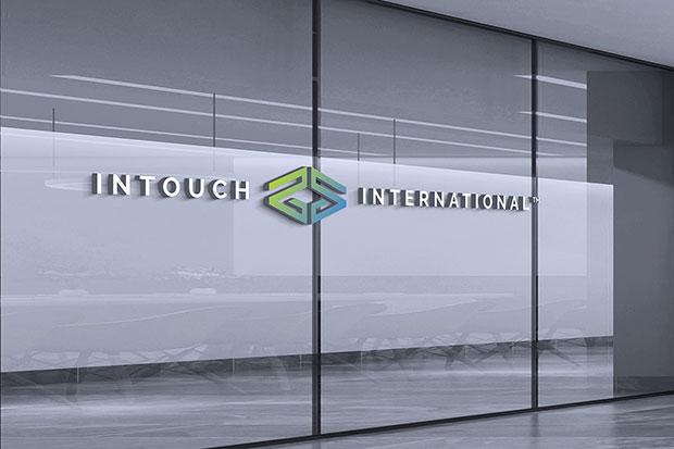 Intouch International logo on window