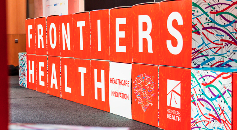 frontiers health logo sign