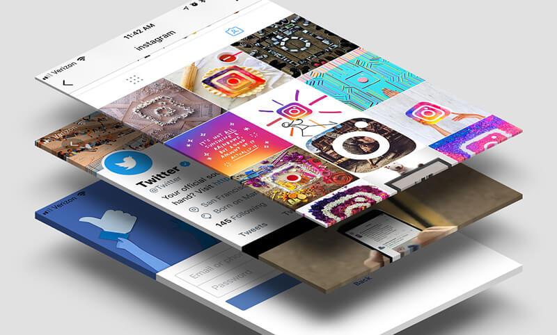 social media grids