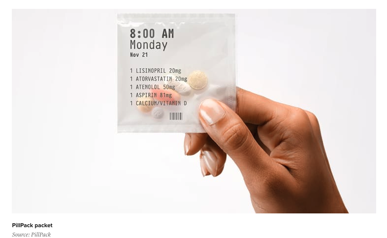 vitamins in a package