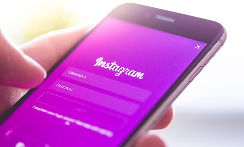 iphone with instagram login screen
