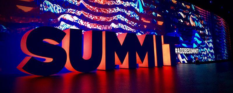 "Neon Banner of Text ""SUMMIT"""
