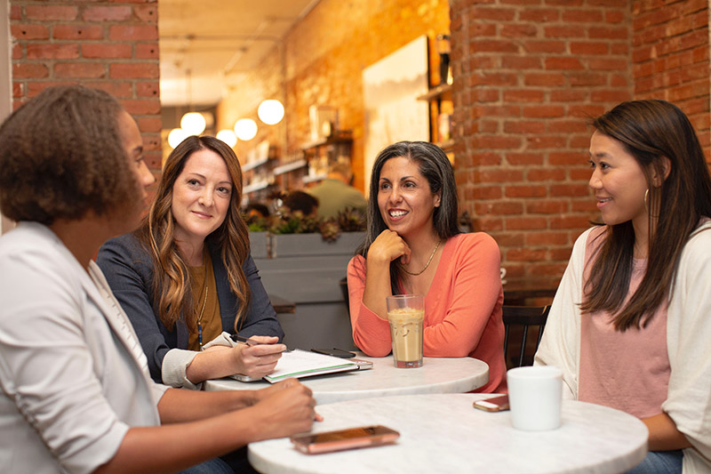 group of women networking