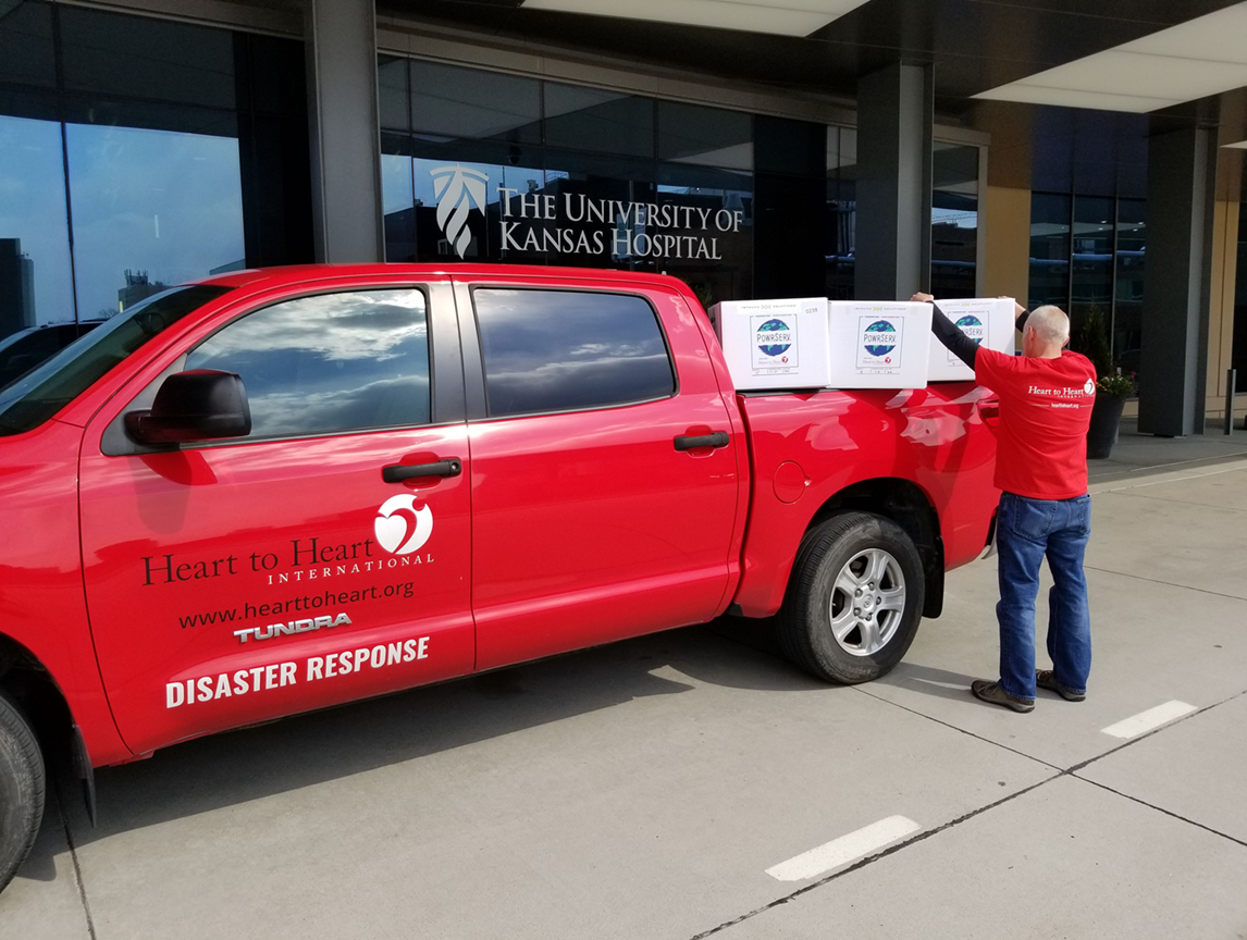 Heart to Heart international company delivering items