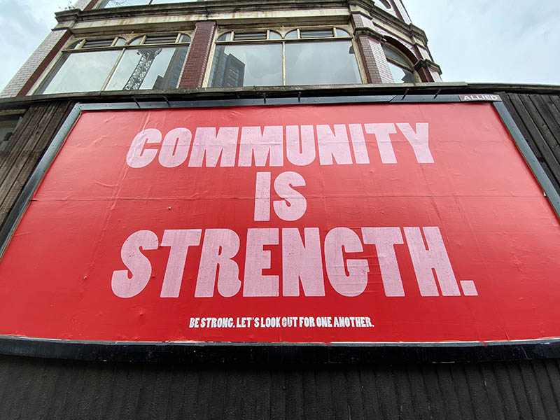 community is strength banner