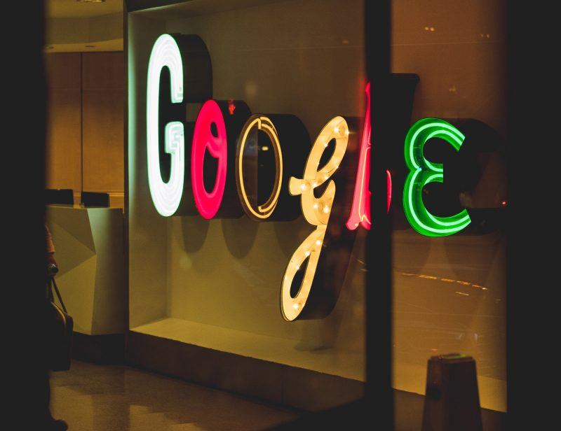 Image of Google logo in Neon Lights