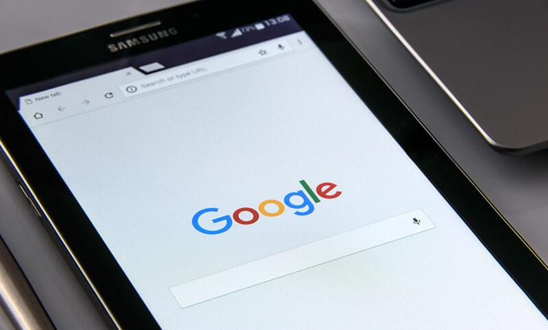 Google search on Ipad