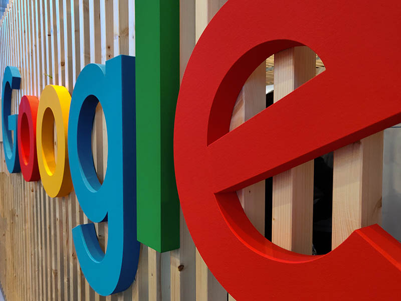 Image of multicolored Google sign letters