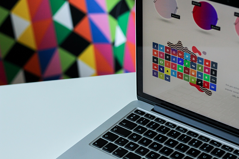 Image of Laptop Showing Designs