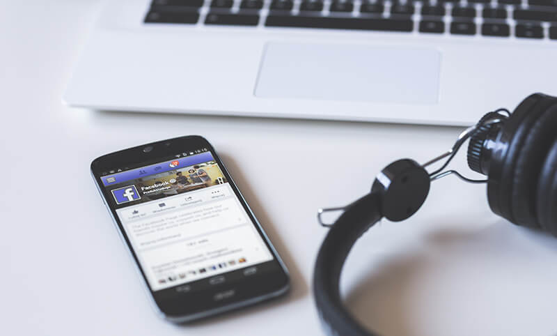 Image of facebook website on phone
